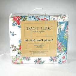 Gold Coast Country Floral Quilt Set