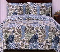 Coverlet Quilt Sham Set Twin/Xl Twin Size Extra Long Single