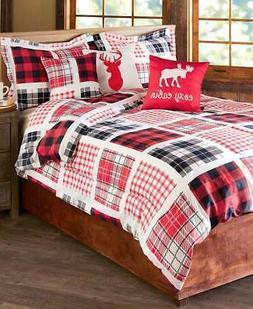 Cozy Cabin Buffalo Plaid Patchwork King Comforter Set - 6 Pi