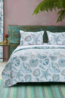 Barefoot Bungalow Cruz Coastal Quilt Set, Twin, Multicolor