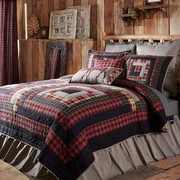 CUMBERLAND QUILT SET-choose size & accessories-Log Cabin Blo