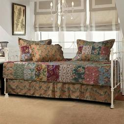 Daybed Bedding Cover Set Quilted Rustic Patchwork Design Flo