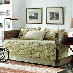 Tommy Bahama Bahama Map Daybed Cover Set, Twin, Beige Khaki