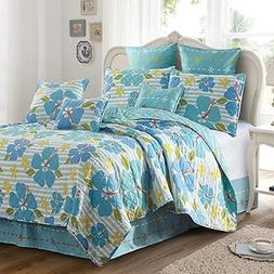 Virah Bella Debra Valencia Collection Alana Flower Quilt and