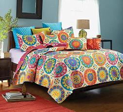 Debra Valencia Rose Blue Quilt & Sham Set