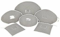 Karen Rhodes Deluxe Microfiber 6 Piece Serving Platter Stora