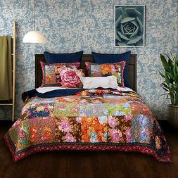 Barefoot Bungalow Desiree Floral Quilt & Pillow Sham Set, Mu