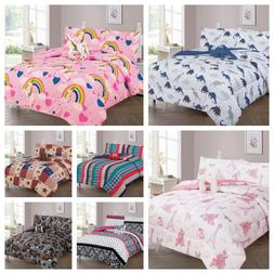 DIFFERENT STYLES KIDS/TEENS  6 PIECES TWIN COMFORTER SET, WI