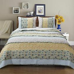 Barefoot Bungalow Ditsy Ruffle Floral Print Quilt & Pillow S