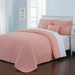 Avondale Manor DLR9QTKINGGHNB Del Ray Quilt Set, King, Coral