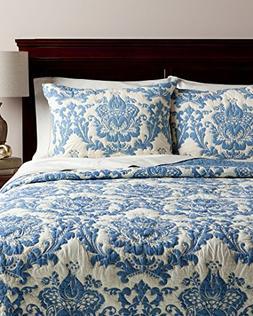 Amity Home Dorie Quilt Set, Queen, Blue
