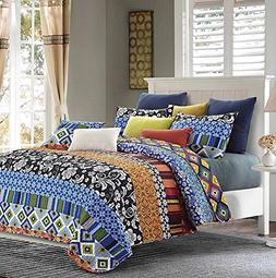 Duke Imports DQ506Q Stripe 3Piece Stripe Quilt Set,,Queen