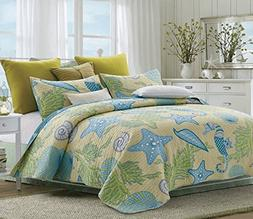 Duke Imports DQ507K Beach 3Piece Beach Dreams Quilt Set,,Kin