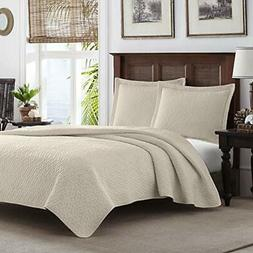 Tommy Bahama Dune Chevron Quilt Set, King, Dune