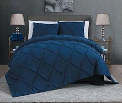 Avondale Manor Ella 7 Piece Quilt Set, King, Navy