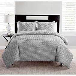 NEW Victoria Classics Embossed Comforter 3-Piece Set - Gray