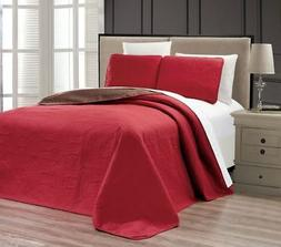 Embossed Medallion Bedspread/Quilt Set