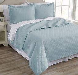 Home Fashion Designs Emerson Collection 3-Piece Luxury Quilt