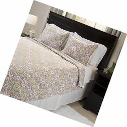 Bedford Home Emilia Reversible 2 Piece Quilt Set With Sherpa