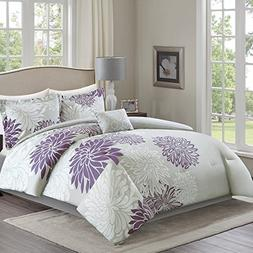 Comfort Spaces – Enya Comforter Set - 5 Piece – Purple,