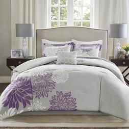 Comfort Spaces Enya Comforter Set-Modern Floral Design All S