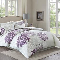 Comfort Spaces Duvet Cover Full/Queen Size - Enya Purple and