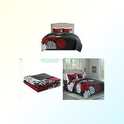 Comfort Spaces – Enya Quilt Mini Set - 3 Piece – Black a
