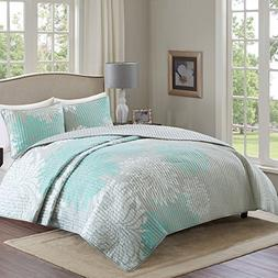 Comfort Spaces – Enya Quilt Mini Set - 3 Piece – Aqua an