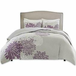 Comfort Spaces – Enya Quilt Mini Set - 3 Piece – Purple