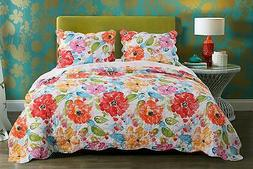 Barefoot Bungalow Esme Quilt Set, 3Piece Full/Queen