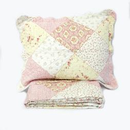 essence of spring 2 piece quilt set
