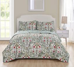 VCNY Home Evangeline 5Piece Reversible Quilt S, Full/Queen S