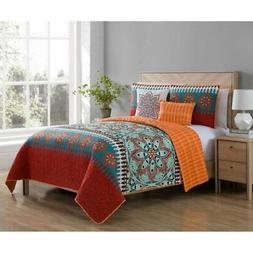 Ezra Printed Medallion Quilt Set by VCNY Home