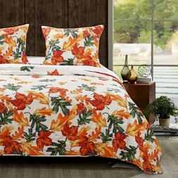Barefoot Bungalow Falling Leaves Reversible Quilt & Pillow S