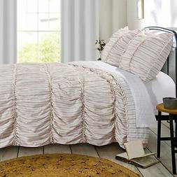 Greenland Home Fashion Farmhouse Chic Reversible Quilt & Pil