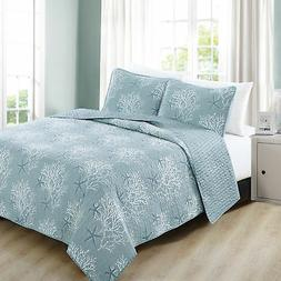 Fenwick Collection 3-Piece Coastal Quilt Set with Shams