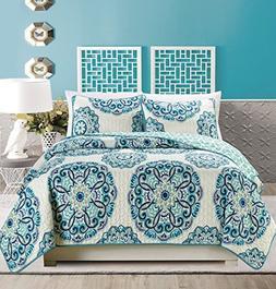 2-Piece Fine printed Oversize  Quilt Set Reversible Bedsprea