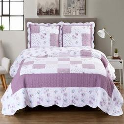 Flirty Lilac Ventura Floral Print Easy Care Hypoallergenic M