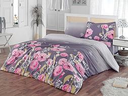 ThreeL Flore 100% Cotton Duvet Cover Bedding Set Floral