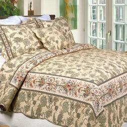 Florence 3 Piece Reversible Cotton Quilt Set, Bedspreads, Co