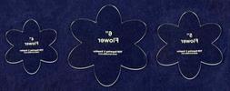 """Flower Set - 3 Pieces- 4"""", 5"""", 6"""" -1/8""""-Quilt Templates-"""