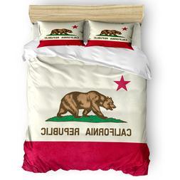 <font><b>California</b></font> Republic Flag Duvet Cover 3D