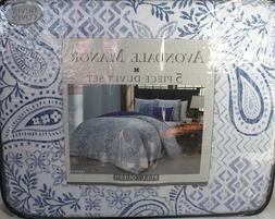 Avondale Manor Fresco 5-piece Duvet Cover Set, Queen, Blue
