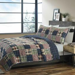 Eddie Bauer Full/ Queen Size Madrona 100% Cotton Quilt Set B