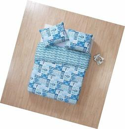 VCNY Home Full/Queen Size Quilt Set in Blue Beautiful Beach