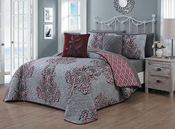 Avondale Manor Gabriella 9-piece Quilt Set-King-Red