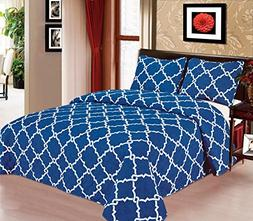 Galaxy Bedspread 3-Piece Quilt Set Soft Quilted Bedding New