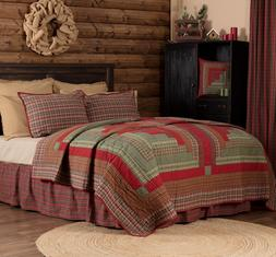 GATLINBURG QUILT SET-choose size & accessories-Log Cabin Blo