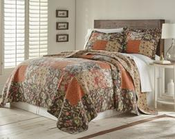 Georgia 3-piece Floral Patchwork Reversible Vintage Washed 1