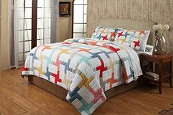 Be-You-tiful Home Georgina Quilt Set, Twin, Multicolored